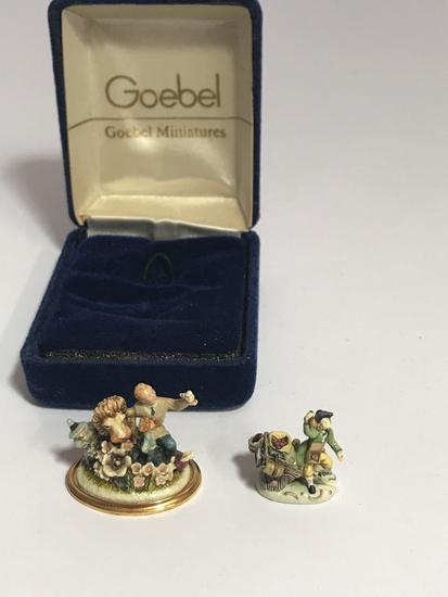 Olszewski Signed Goebel Miniature 2 Units
