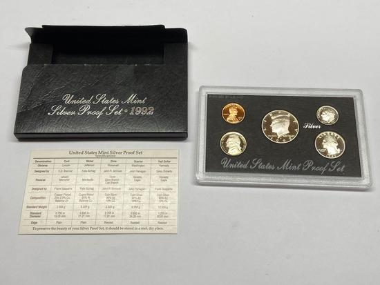 United States Mint Silver Proof Set of 1992-S Silver Coins w/ COA in Original Packaging