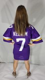 Signed Minnesota Vikings Football Jersey XL w/ COA says P.A.A.S., Case Keenum 7