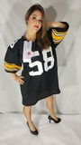 Signed Pittsburgh Steelers Football Jersey XL w/ COA says P.A.A.S., Jack Lambert 58