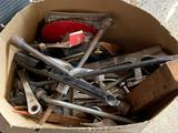 Box of Tools, Wrenches, Saw, Planers, Hammer, Screwdrivers, etc