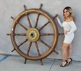 Hugh M. Hefners Personal Ships Wheel from Playboy Mansion West
