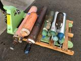 Pallet of Empty Oxygen Cylinders, 3 Misc