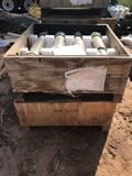 2 Wood Crates Of Military Hydrostruts