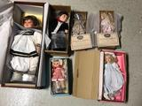 6 Boxed Dolls, some w/ CoA