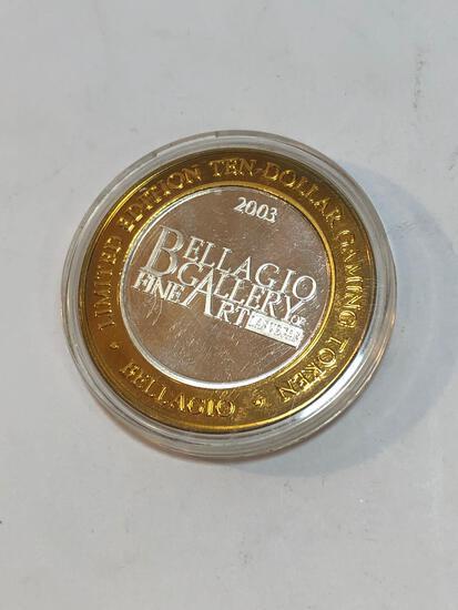 2003 Bellagio Gallery 10 Dollar Gaming Token