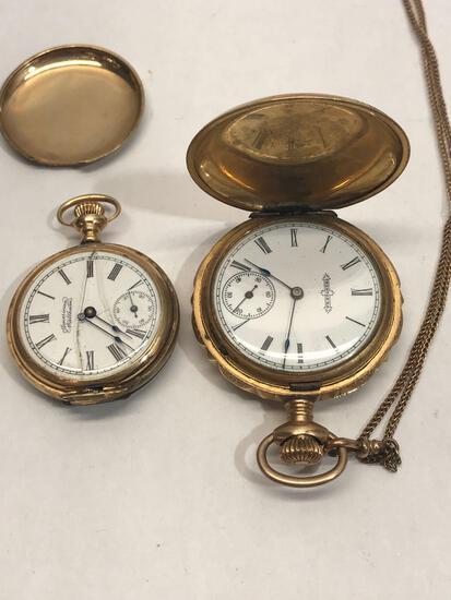 Pocket Watch Diamond Gold 2 Units