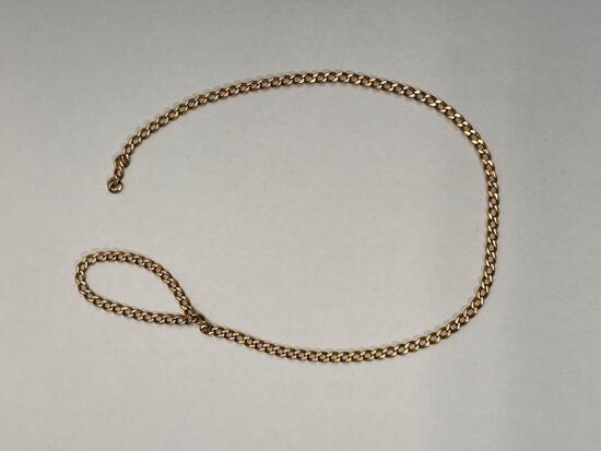 Vintage 10K Yellow Gold Chain Bracelet