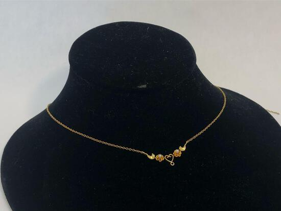 Vintage 10K Yellow Gold Chain Necklace