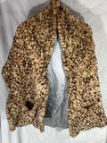 Cedrics Faux Fur Pocketed Scarf & Neiman Marcus Size M Silk Blouse