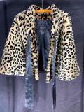Jerry Lewis Faux Leopard Fur Coat