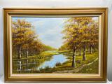 44x32in Framed Signed Original Oil on Canvas Painting by Lloyd Reasor