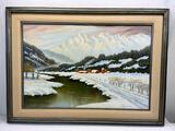 45x33in Framed Signed Original Oil on Canvas Painting by Lloyd Reasor