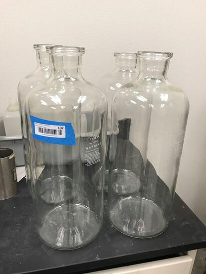 Pyrex 9.5L Glass Beakers 4 Units