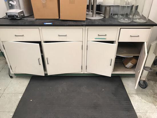 Granite Top Metal Cabinet