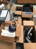 Boxes of Electronics Safety Suits Binders