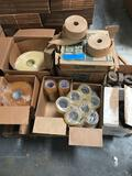 Pallet of Different Tape Rolls