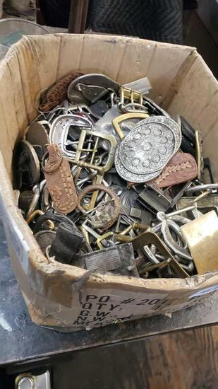 shoe / belt buckles various entire box