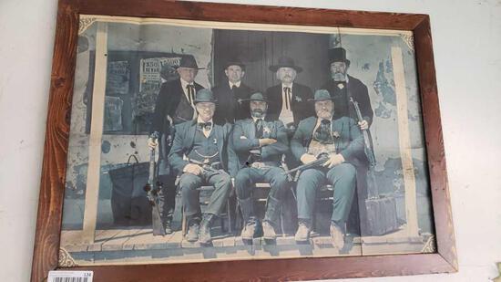 poster framed 21in tall