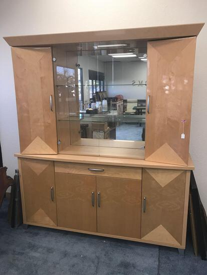 Wood Glass Door Cabinet
