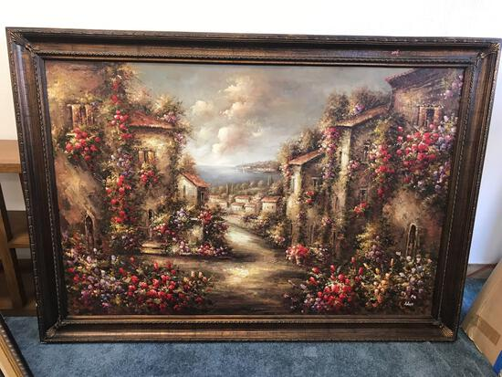Large Oil Painting Signed Antonio
