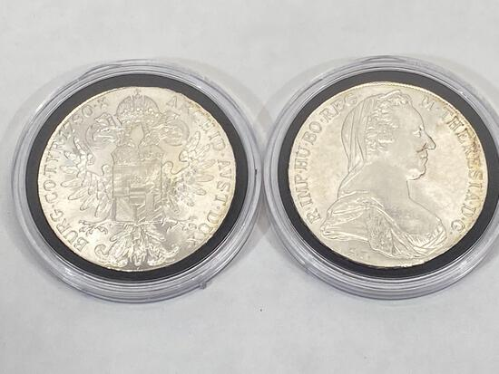 Maria Theresa Thaler Silver Bullion Coins, 2 Units