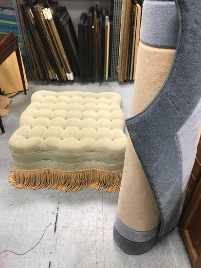 Vintage Sofa Foot Rest And Rug