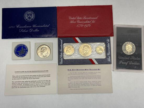 Eisenhower Dollar Silver Proof & Uncirculated Sets, U.S. Silver Coins