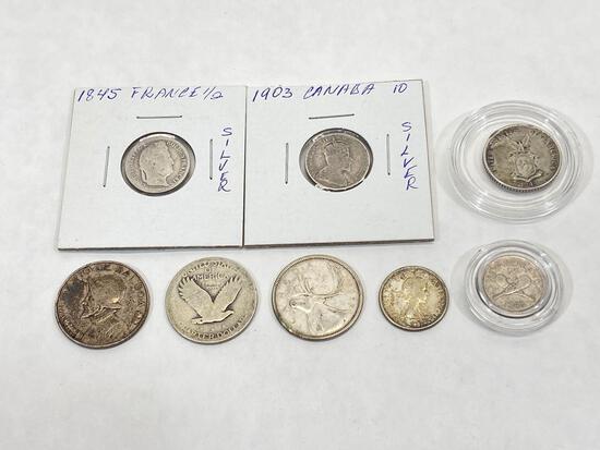 Antique & Vintage Silver Coins, 8 Units