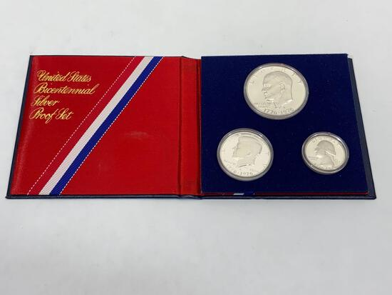 United States bicentennial silver proof set of coins 1776 - 1976