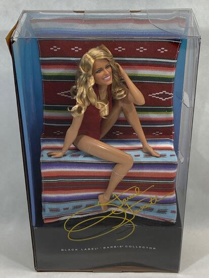 Black Label Barbie Collector, Farrah Fawcett Doll, New in box