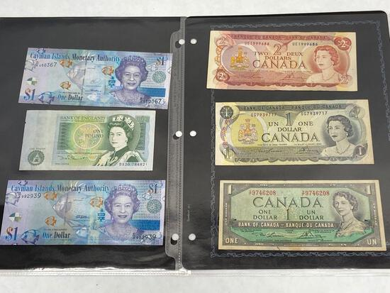 British Empire paper money, 11 units