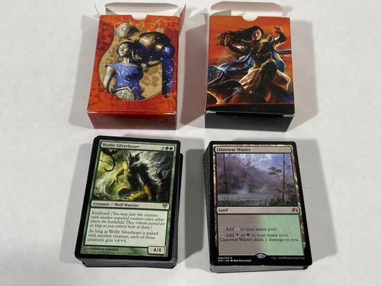 2 Decks of MTG Magic the Gathering Trading Cards