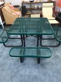 Outdoor Picnic Table Rubber Coated Steel