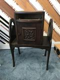 End Table Cabinet Copper Lining Magazine Rack Humidor.