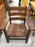 Vintage Wood Captain Chair