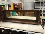 Oak Wood Mirror Wall Shelf
