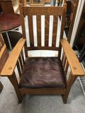 Large Mission Oak Rocking Chair