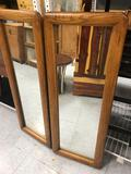 Wood Framed Mirrors 2 Units