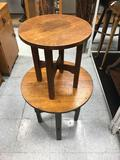 Pair of Craftsmen Wood Nesting Tables