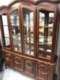 Wood Glass China Buffet
