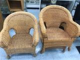 Wicker Lounge Chair 3 Units