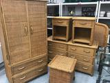 Wicker Furniture Bedroom Set 6 Units