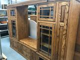 Large Wood Entertainment Cabinet
