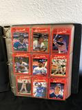 Binder of Donruss Baseball Cards