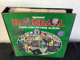 Binder of Upper Deck Baseball Cards