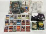 MTG Magic the Gathering Trading Cards w/ accessories, dice, magazines, etc