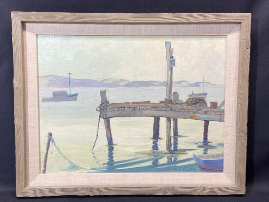 Signed Framed Oil on Masonite Painting, Aaron Kilpatrick, 19x15in