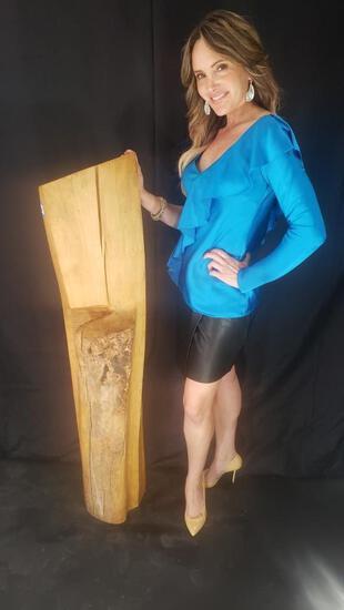 Organic Modern Aspen Wood Sculpture