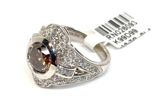 3.27ct Diamond & Platinum Engagement Ring, Size 6 1/2, Certified & Graded by AIG